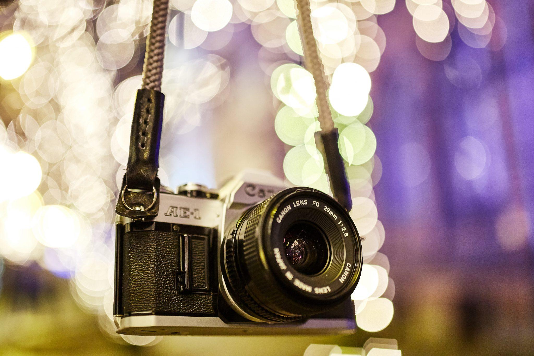 prezent dla fotografa canon ae1 pasek lina vintage